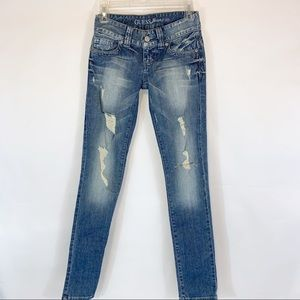 Guess Jeans Stretch Distressed Daredevil Skinny
